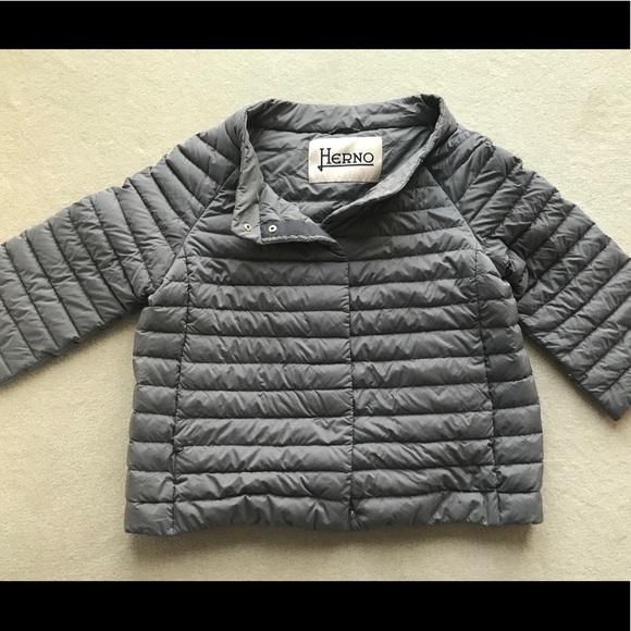 baadcf3ba Herno puffer cap sleeve jacket